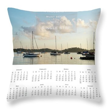 Throw Pillow featuring the photograph 2017 Wall Calendar Journey by Ivy Ho