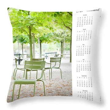 Throw Pillow featuring the photograph 2017 Wall Calendar Paris by Ivy Ho