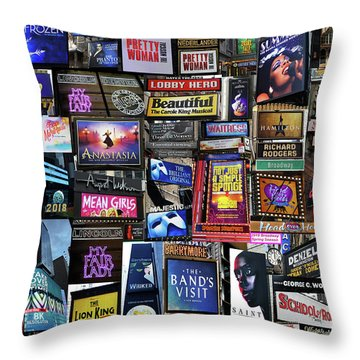 2018 Broadway Spring Collage Throw Pillow