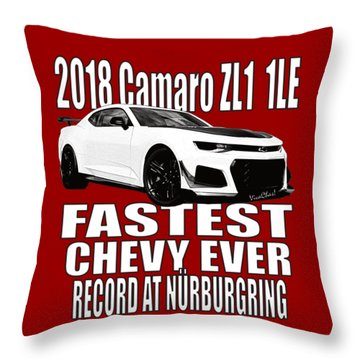 2018 Camaro Zl1 1le Throw Pillow