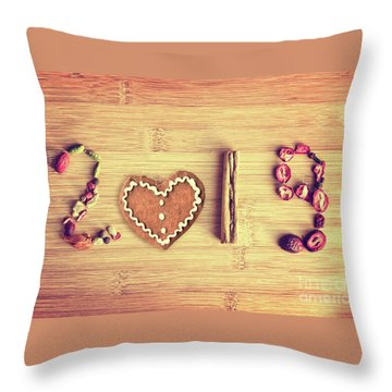 Spices New Year Card Throw Pillow