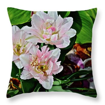 Throw Pillow featuring the photograph 2018 Vernon Tulips 1 by Janis Nussbaum Senungetuk
