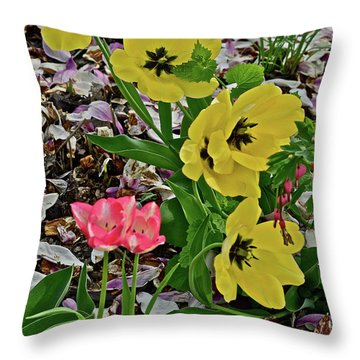 Throw Pillow featuring the photograph 2018 Vernon Tulips 2 by Janis Nussbaum Senungetuk