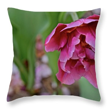 Throw Pillow featuring the photograph 2018 Vernon Tulips 3 by Janis Nussbaum Senungetuk
