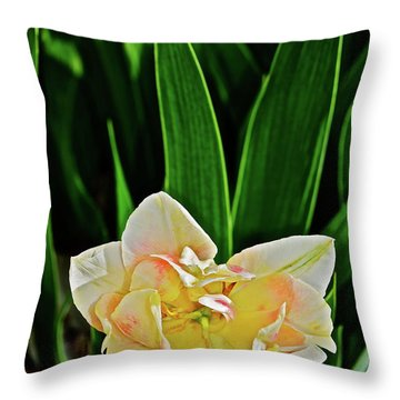 Throw Pillow featuring the photograph 2018 Vernon Tulips 4 by Janis Nussbaum Senungetuk