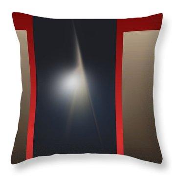 Throw Pillow featuring the digital art 2053-2 2017 by John Krakora