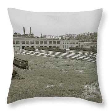 207th Street Railyards Throw Pillow