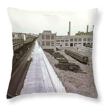 207th Street Subway Yards Throw Pillow