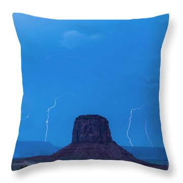 Lightning Throw Pillow