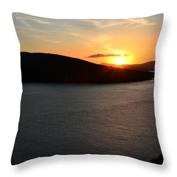 Throw Pillow featuring the photograph Sunset Dingle by Barbara Walsh