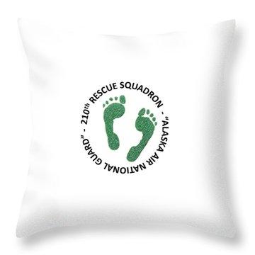 210th Rescue Squdron Throw Pillow