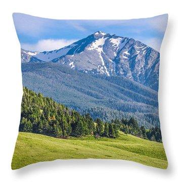 #215 - Spanish Peaks, Southwest Montana Throw Pillow