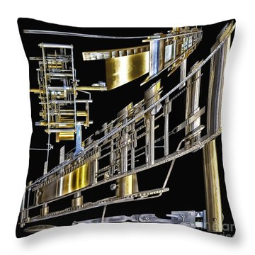 21st Century Erector Set ? Throw Pillow by Walt Foegelle