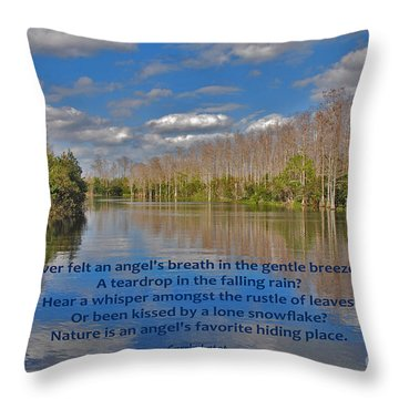 22- An Angel's Breath Throw Pillow by Joseph Keane
