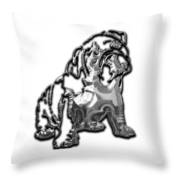 English Bulldog Collection Throw Pillow by Marvin Blaine