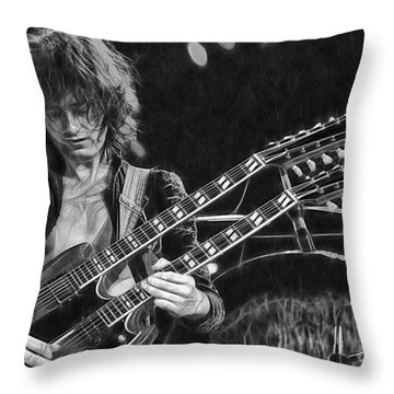 Jimmy Page Collection Throw Pillow
