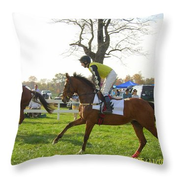 The Montpelier Hunt Races Throw Pillow