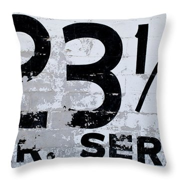 23 1/2 Hour Service Throw Pillow