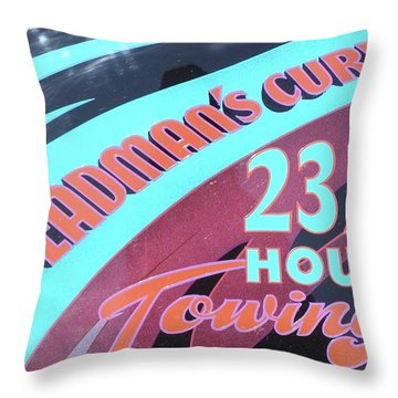 Throw Pillow featuring the painting 23 1/2 Hour Towing by Alan Johnson