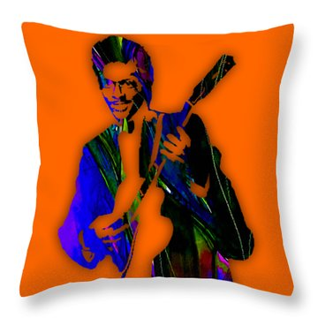 Chuck Berry Collection Throw Pillow by Marvin Blaine