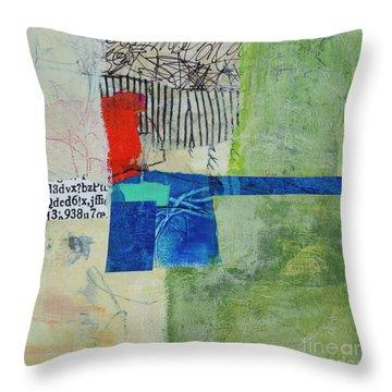 Throw Pillow featuring the mixed media 23 by Elena Nosyreva