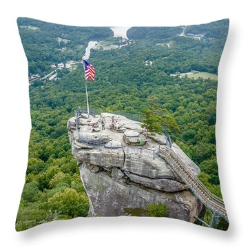 Lake Lure And Chimney Rock Landscapes Throw Pillow
