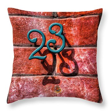 23 Throw Pillow by Paul Wear