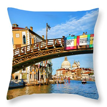 Throw Pillow featuring the photograph Venice - Untitled by Brian Davis