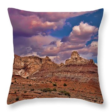San Rafael Swell Throw Pillow