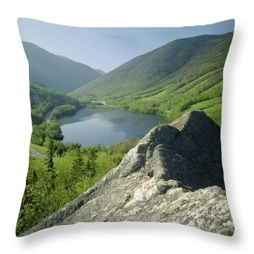 Throw Pillow featuring the photograph 235601 Echo Lake Cannon Mountain Nh by Ed Cooper Photography