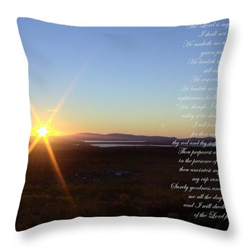 Throw Pillow featuring the photograph 23rd Psalm by Greg DeBeck