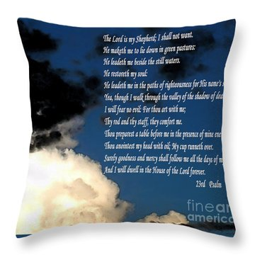 23rd Psalm Throw Pillow by Methune Hively