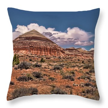 Capitol Reef National Park Catherdal Valley Throw Pillow