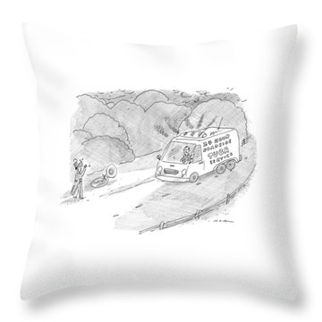24 Hour Roadside Tuba Service Throw Pillow
