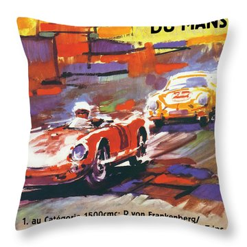 24 Hours Of Le Mans Throw Pillow