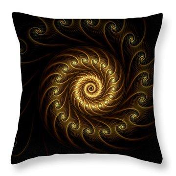 Throw Pillow featuring the digital art 24 Karat by Lea Wiggins