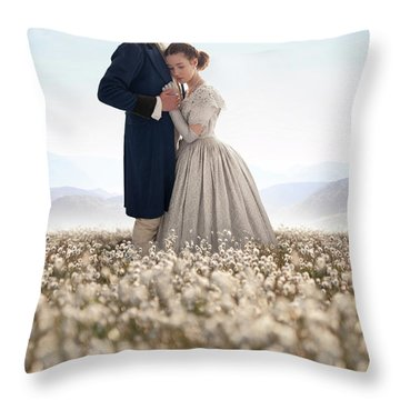 Victorian Couple Throw Pillow by Lee Avison