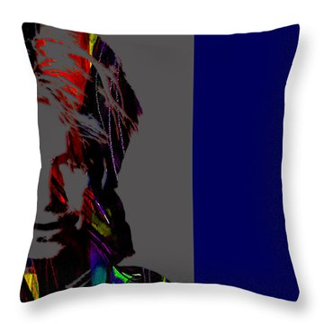 David Bowie Collection Throw Pillow by Marvin Blaine