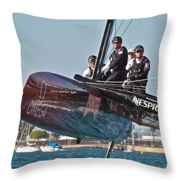 Emirates Team New Zealand Throw Pillow