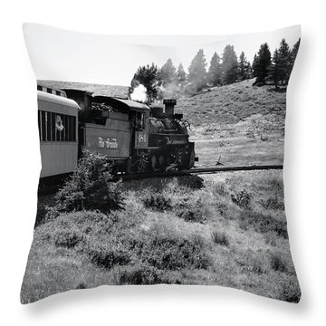 Throw Pillow featuring the photograph 25 Miles Per Hour by Ron Cline