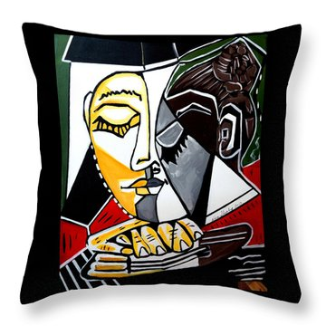 Picasso By Nora Fingers Throw Pillow