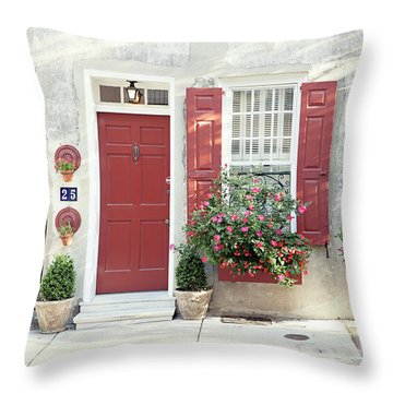 Throw Pillow featuring the photograph 25 Queen Street by Heather Green