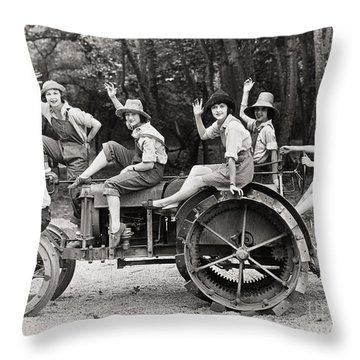 Silent Film: Automobiles Throw Pillow by Granger