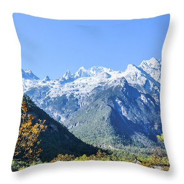 Throw Pillow featuring the photograph The Plateau Scenery by Carl Ning