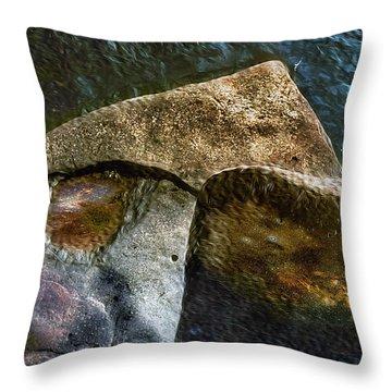 Stone Sharkhead Throw Pillow
