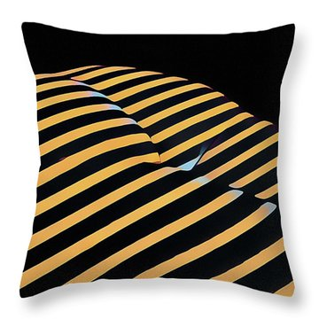 2612s-ak Abstract Rear Butt Bum Thighs Zebra Striped Woman In Composition Style Throw Pillow