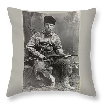 26th United States President Throw Pillow by John Stephens