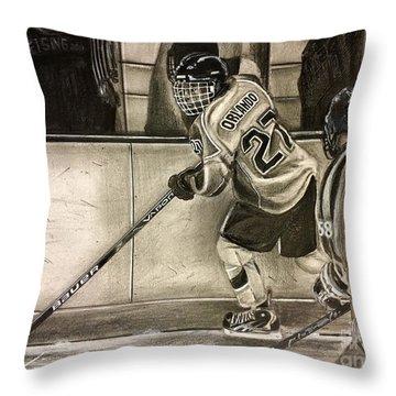 #27 Kenny Orlando  Throw Pillow