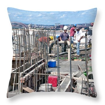 27th Street Lic 2 Throw Pillow by Steve Sahm
