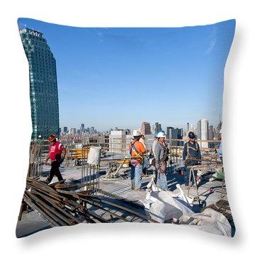 27th Street Lic 3 Throw Pillow
